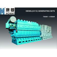 700kW-4180kW HFO / Generador De Combustible Pesado