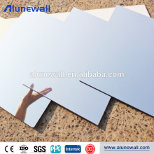 Silver aluminium composite mirror panel with 100% gloss rate