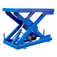 warehouse cargo lifting platform/ hydraulic warehouse scissor lift