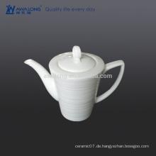 550ml einfacher weißer arabischer Kaffee-Topf, hochwertiger Kaffee-Topf aus China