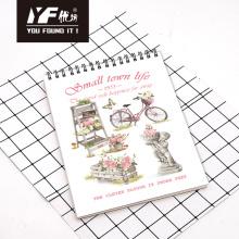 Caderno espiral A4 vertical com estilo de vida em cidade pequena
