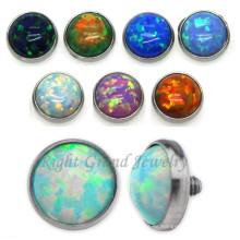 3mm Custom Micro Skin Diver Jewelry Opal Dermal Anchor Tops