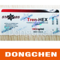 Permanent Adhesive Waterproof Steroids Injection Packaging 10ml Vial Label