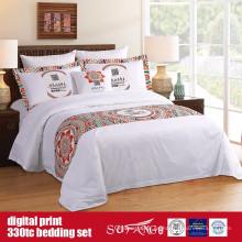 Juego de ropa de cama con estampado digital de algodón 60S 330TC 173 * 156