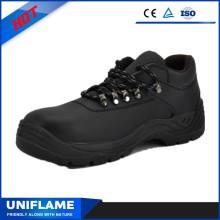 Высокое качество гладкой кожи защитную обувь с кружева Ufb058