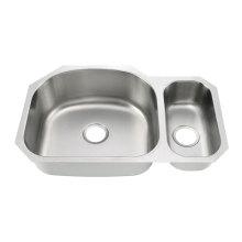 8152AL Undermount Double Bowl Kitchen Sink