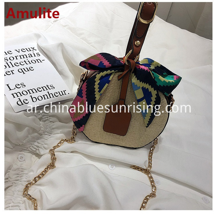 Women straw bag handbag