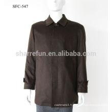 Manteau classique en laine noire cachemire