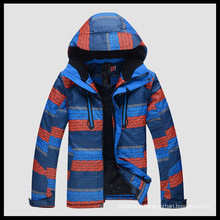 down feather men colorful ski jacket with hood