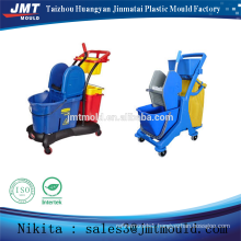 China injection plastic mop bucket trolley mold