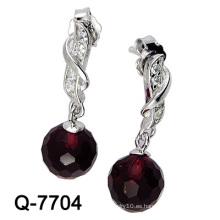 Nueva joyería de plata de los pendientes de la manera del diseño 925 (Q-7704. JPG)