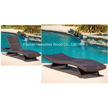 Lakeport Outdoor Ajustable Chaise longue en chêne en mousse PE