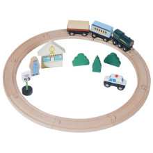 Classic Wooden Train Toy