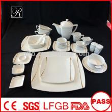 P & T ROYAL WARE porcelana melodia linha quadrada dinnerware novo produto quente para 2015