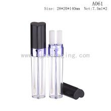 Plástico 2-colorea el tubo del lustre del labio el final doble del labio del final con el aplicador de la gama