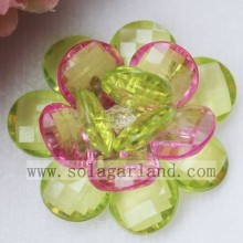 47MM Acrylic Transparent Two Tone Artificial Beading Flowers