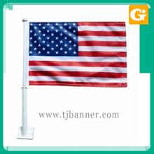 Новая акция 12x18inch полиэстер американский национальный флаг автомобиля