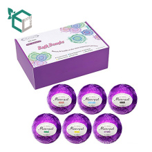 Custom printed floral seed oil box bath bomb packing box