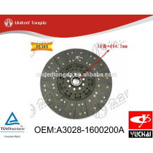 Original Yuchai engine YC6108 clutch Disc A3008-1600200 for Chinese truck