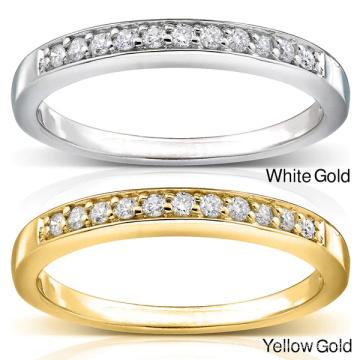 Ювелирные изделия с бриллиантами из бриллиантов Half Row 925 пробы