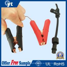 Conector impermeable de la prenda impermeable del cable de la iluminación del LED con el clip de cocodrilo