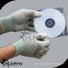 SRSAFETY PU с покрытием ESD Рабочая перчатка с углеродом