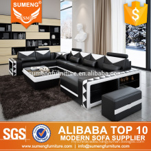 SUMENG 2017 latest design modern sectional sofa with 7 seats