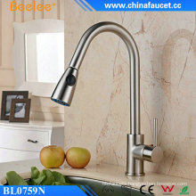 China Upc Kitchen Brushed Nickel Faucet Flexible Pull out