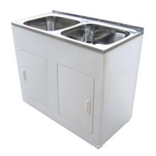 Artículos de tocador sanitarios americanos australianos Lavabo doble blanco del lavadero (1160A)