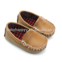 Enfant browm chaussure en cuir décontracté bébé pour garçon