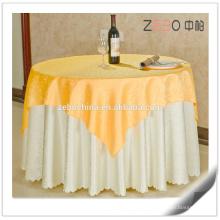 Hot Selling Gold Jacquard Fabric Polyester Linen Elegant Wedding Tablecloths
