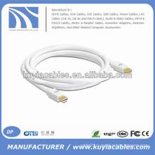 Белый мини-DP для мини-DP-кабель для Macbook