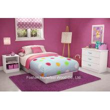 Kids Twin Platform 3 Piece Bedroom Set in Pure White