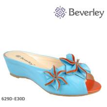 Latest Flower Summer Lady Wedge Heels Sandals 2015