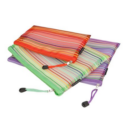 Colorful Mesh Zipper Bag Breathable Nylon Mesh Bag