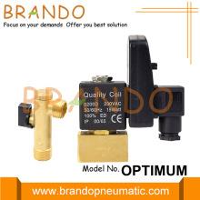 Válvula de drenaje automático del compresor de aire de 1/2 '' NPT 220V