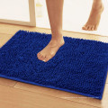Machine washable microfiber chenille carpet for bathroom