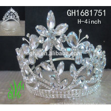 2015 diamond cheap baby princess crown or tiara pop miss princess crown