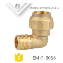EM-F-B056 diámetro diferente latón macho rosca compresión codo spain fitting