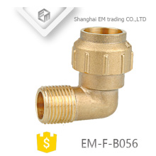 EM-F-B056 Différents diamètres laiton filetage mâle compression coude espagne raccord de tuyau