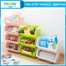 Frisches Spielzeug vier Schicht 330 * 440 * 930 Kunststoff-Storage-Produkt