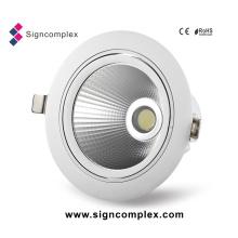 COB embutido Downlight do diodo emissor de luz do motorista 6inch 25W com anos 3warranty