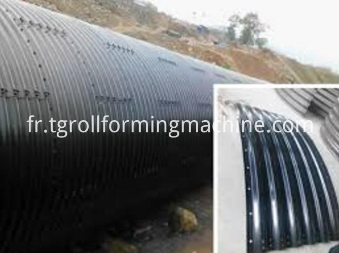 Assembled Corrugated Metal Road Culvert Pipe Forming Machine