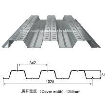 Folha de decks de piso de aço galvanizado (YX51-342-1025)