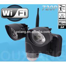Fabrikpreis bewegungssensor LED licht mit mini versteckte kamera wifi