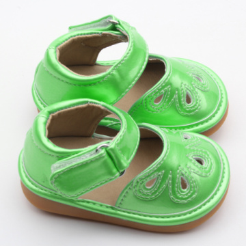 Buah-buahan Green Kids Popular Squeaky Shoes Wholesales