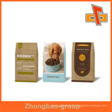 packaging material food grade upright dog food packaging paper bag with over 10 years export experience
