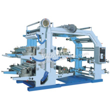 4 Farbe Plastiktüte Flexo Etikettendruckmaschine