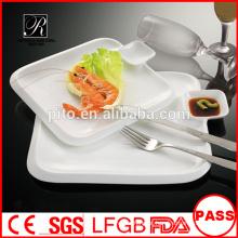 Prato de prato de porcelana de preço de fábrica prato quadrado lado
