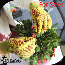 SRSAFETY flower using gloves for 2015 best selling gloves in china